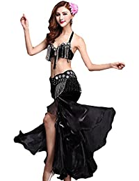 YiJee Mujer Elegante Belly Dance Bra Danza Falda Oriental Danza del Vientre Disfraz