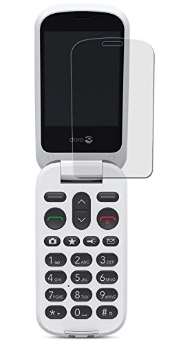 Doro 6050 - 3x seidenmatte Premium Folie Antireflex - Antifingerprint - Schutz Folie - Schutzfolie