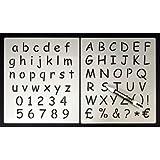 alfanumérico Stencil Kit contiene A-Z & 0–9ideal para pizarras y pizarras Stena