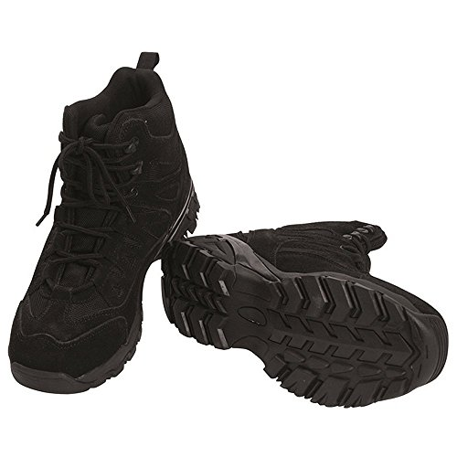 Mil-Tec Hommes Squad Bottes Noir taille 9 UK/10 US
