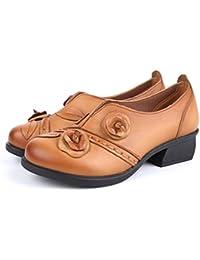 Socofy Mocasines Zapatos De Mujer De Cuero Mujer Zapatos De Ballet Mocasines Zapatos Casuales Mujer Primavera