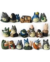 My Neighbor Totoro/Cat bus etc Studio Ghibli miniature figurines Set of 17