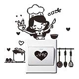 Mhdxmp 18 * 20 Cm Küche Lichtschalter Aufkleber Nette Koch Vinyl Wandtattoo Home Decor Pvc Tapete Für Wohnzimmer Tapeten Dekorationen