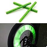 FENSIN 12pcs Fahrrad Reflektorbänder Sicherheitsband für Outdoor Jogging, Radfahren, Wandern, Motorrad-Reiten oder Laufen | Reflektierende Sicherheits Armband (Grün)