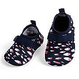L-RUNJP Baby Watershoes Leichte Kleinkind Aqua Socken Wanderschuhe Rot Weiß 0-6 Monat = EU15-16