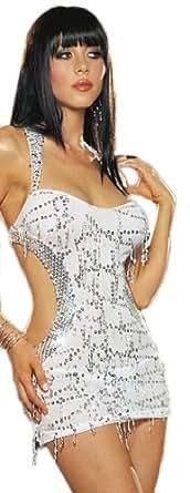 "Waooh - Lingerie - Petite robe sexy ""Anouck"" - Blanc"