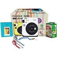 Fujifilm Instax Mini 70 Travel Box Combo Offer (White Camera + Twin Film Pack + Marker + Scrap Book + Neck Strap…
