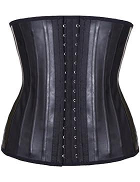 Binhee Women's Breathable Corset Faja Reductora Lencería Moldeadora De Cintura Bustier Para Mujer Negro X-Large