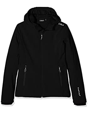 CMP - Softshell Jacket Fix Hood Girls, color black, talla 92