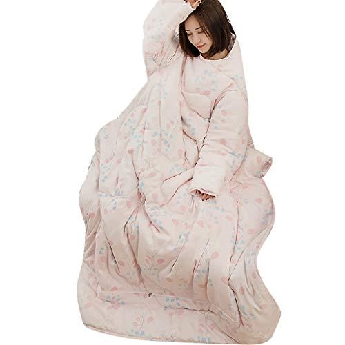 Oasics Winte Lazy Quilt, Lazy Quilt with Sleeves, Blankets Lazy Quilt Mit Ärmel Decken Warme Und Multifunktionale Design Tragbare 120 * 150CM (C, Mehrfarbig)