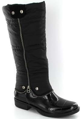 Be Only Bottes en caoutchouc Dunya black Dessus PVC+Textile Doublure Textile largeur: Moyen Pointure 38.0