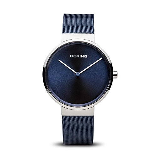 Bering Unisex Analogue Quartz Watch with Stainless Steel Plated Bracelet – 14539-307