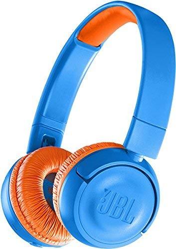JBL JR300BT Kinder-Kopfhörer in Blau, Kabellose Bluetooth On-Ear Kopfhörer mit Lautstärkebegrenzung, Speziell entwickelt für Kinder
