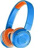 JBL JR300BT - Casque sans fil pour enfants - Connection Bluetooth - Avec plafonnement de volume sonore <85db - Solide et pliable - Jeu d\'autocollants inclus - Bleu