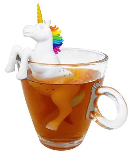 3lite lustiges Einhorn Teesieb für Tasse Teefilter für losen Tee aus Silikon