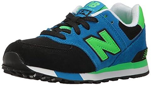 New Balance Unisex-Kinder Kl574 Kurzschaft Stiefel, Schwarz (Black/Blue), 30.5 EU