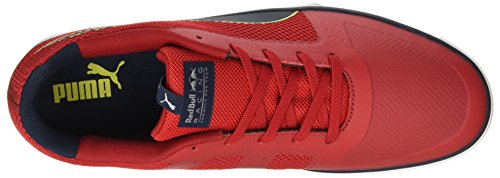 Puma Unisex-Erwachsene RBR Wings Vulc Low-Top Rot (chinese red-total eclipse-puma white 02)