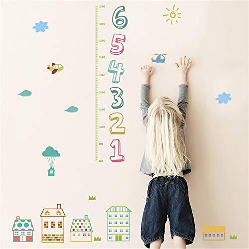 Kinder Zahl höhe messung wandaufkleber für kinderzimmer wohnkultur Cartoon Haus wachstum Chart wandtattoos PVC wandbild art50 * 70 cm