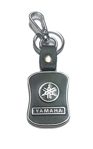 eShop24x7 BLACK Leather Imported Key Chain for YAMAHA Bikes - Key Ring - For Alpha Ray FZ FZS Fazer YBR Crux Bikes  available at amazon for Rs.285