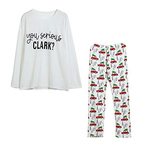 Riou Weihnachten Set Baby Kleidung Set Pullover Pyjama Outfits Set Familie Weihnachten Neugeborenen Baby Jungen Mädchen Kleidung Brief Strampler Tops + Pants 3 STÜCKE Outfits Set (S, Eltern)