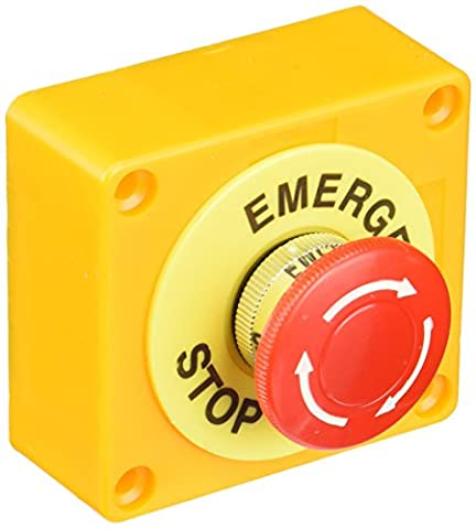 Red Sign Mushroom Emergency Stop Push Button Switch Station 1