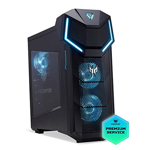 Acer Predator Orion 5000 Gaming Desktop PC (Intel Core i7-8700, 16GB RAM, 128GB SSD, 1000GB HDD, NVIDIA GeForce GTX 1070Ti, Win 10) schwarz/blau