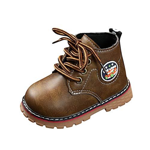 BoyYang Kinder Stiefel Schuhe Babyschuhe Krabbelschuhe Turnschuhe Lauflernschuhe Sneaker Weiche Sohle Lederschuhe Erste Kinderschuhe Kleinkind für Mädchen Jungen