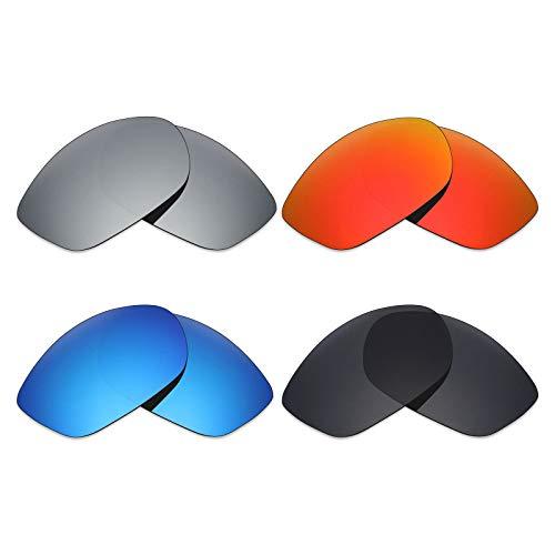 MRY 4Paar Polarisierte Ersatz-Objektive für Costa del Mar Fisch sunglasses-stealth schwarz/fire rot/ice blau/Smaragd Grün