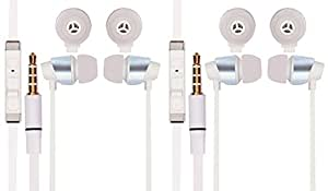 Jiyanshi Micromax Canvas A116i Compatible Combo of Stylish Earphone With Deep Bass (White)