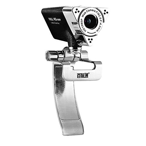 JYL PC Webcam 1080P Desktop-Computer Live-Kamera mit Mikrofon USB-Laufwerk HD-Video kann externes Notebook zu Hause Externe Kamera Sein, für Computer PC Laptop -
