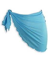 Paréo bleu à nouer sur le côté accessoires de mode plage été