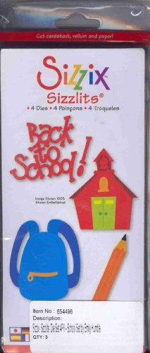 Ellison Sizzix Sizzlits 4 - BACK TO SCHOOL Dies by Ellison/Sizzix