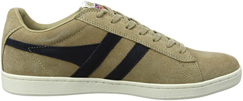 Gola Equipe Suede Cappuccino/Navy, Sneaker Uomo Beige (Cappucino/navy Xf)