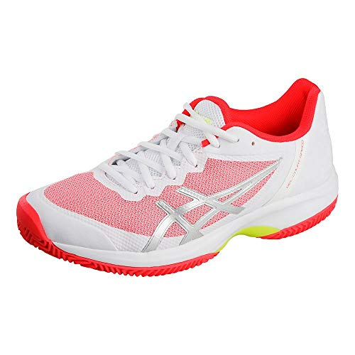 ASICS Damen Tennisschuhe Sandplatz Gel-Court Speed Clay Weiss/pink (979) 40EU
