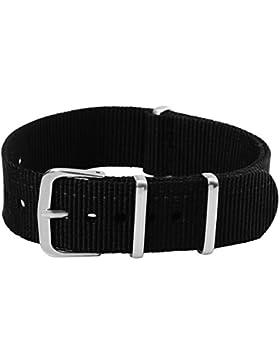 20mm Herren Damen Nylon Nato Militär Uhren-Armband Uhrenarmbänder Uhrband Watch Band Watch Strap Uhr Unisex
