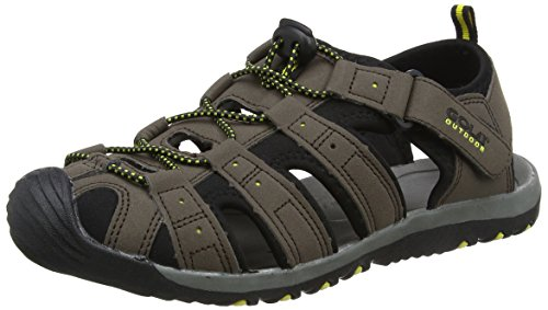 Gola Herren Shingle 3 Sandalen Trekking-& Wanderschuhe, Braun (Dark Brown/Black/Sun), 44 EU (10 UK)