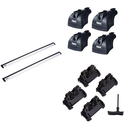 Preisvergleich Produktbild Thule WingBar (Alu Dach-/Lastenträger) Set für VOLKSWAGEN Passat Variant mit integrierter Dachreling. Komplettset inkl. Schloss und Schlüssel.