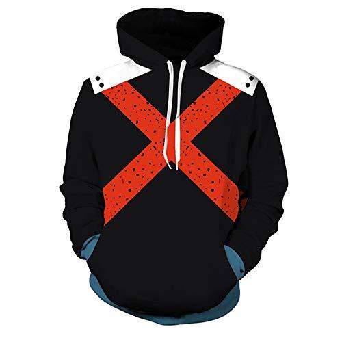 Druck Unisex Rundhals Hoodie Sweatshirt Anime Neuheit Kordelzug Cosplay Baumwollprodukte Alltagskleidung My Hero College S ()