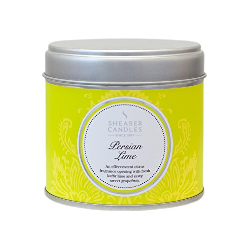 Shearer Candles Persian Lime Large Scented Silver Tin Candle - White (Style:Candle-Scented White)