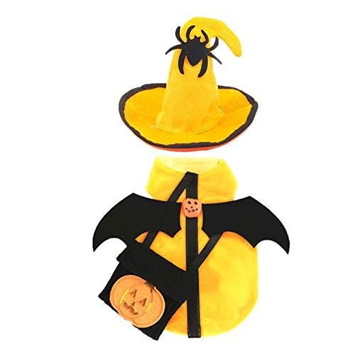 TFWJ Haustier Kostüm Hut Lustig Modellieren Hund Katze Halloween Party,M (Lustiger Mensch Und Hunde Kostüm)