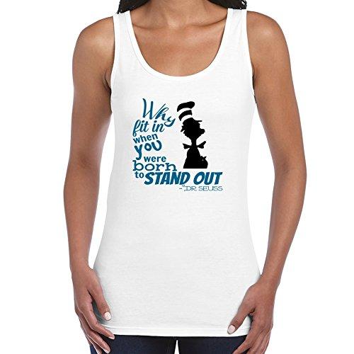 stylingclothing Frauen Dr. Seuss Zitat T-Shirt (Größe, Farbe), damen, weiß