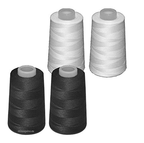 4 conos de hilo de poliester