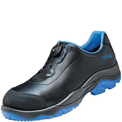 Chaussures basses de sécurité ESD SL 9645XP Boa Blue Large dans 10après en ISO 20345S3SRC de Atlas Schwarz