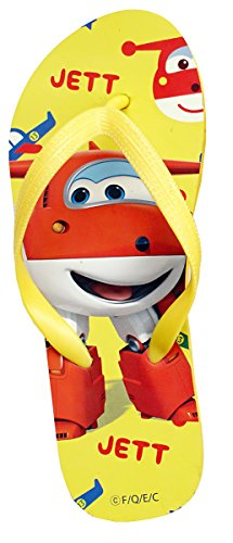 Boys Super Wings Jett Plane Flip Flops Toe Post Sandal Child UK Shoe Sizes from 9 to 2