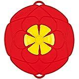 Kochblume couvercle fleur anti-débordement peu format rouge