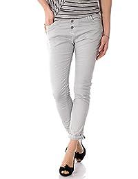 PLEASE - P78a m07 jeans femme boyfriend color pantalons baggy