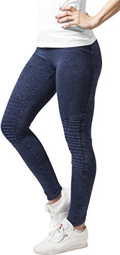 Urban Classics Damen Sport Legging Leggings Denim Jersey blau (Indigo) Large