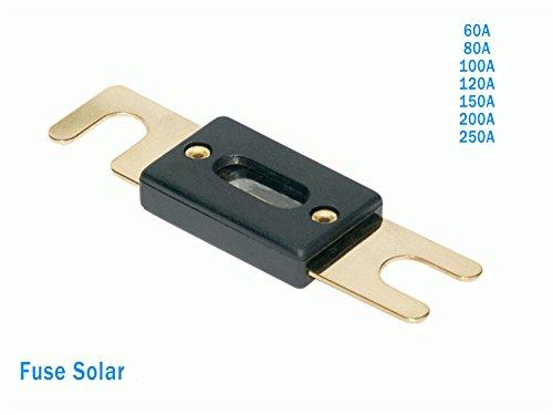 Fusibles Solar 60A 80A 100A 120A 150A 200A 250A (transparente)