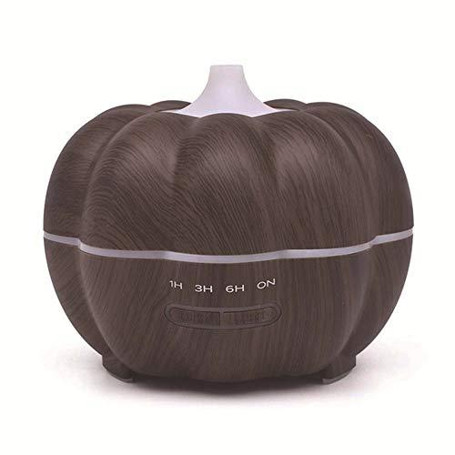 HXSJ Kürbis 400ml Minibefeuchter Ätherisches Öl Diffuser Startseite Luftreinigung Holzmaserung Aroma Diffuser ist sehr geeignet for Schlafzimmer, Babyzimmer, Wohnzimmer