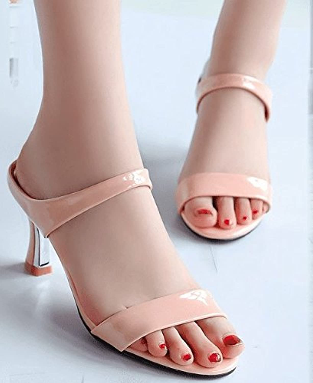 AWXJX donna flip flops Awxjx estate sandali da da da tacco alto spessore con punta aperta impermeabile, donna, rosa... | a prezzi accessibili  | Uomini/Donne Scarpa  553db0